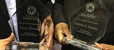 Elizabeth Bush Award Presented to CT State Senators Tony Hwang and Edwin Gomes