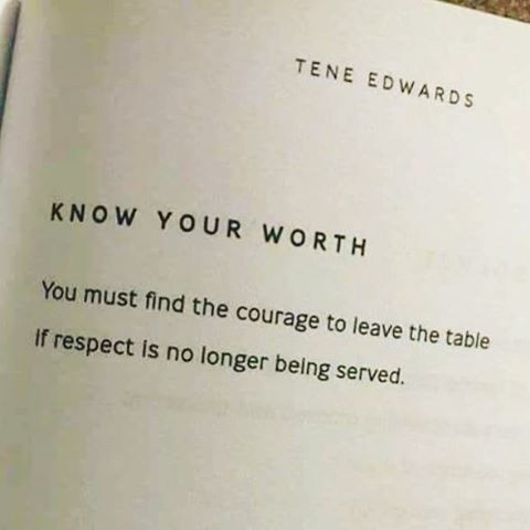 "Know Your Worth Quotes Quotes We Love: Tene Edwards, ""Know Your Worth"" 