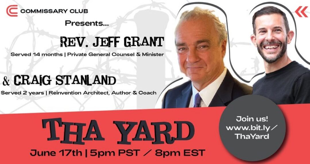Fellow Travelers Jeff Grant & Craig Stanland will be guests on Tha Yard Weekly Hangout, Thurs., June 17, 2021, 8 pm ET, 5 pm PT